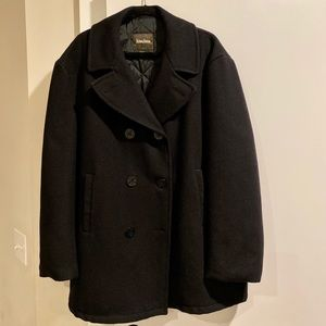Men's XL Neiman Marcus Wool Coat (Black)